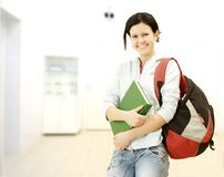 Female student portrait Royalty Free Stock Image
