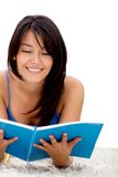 Female student reading Royalty Free Stock Photography