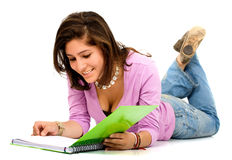Female student reading Stock Photo