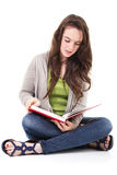 Female student reading Stock Images