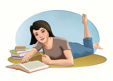 Female student relaxing Royalty Free Stock Photo
