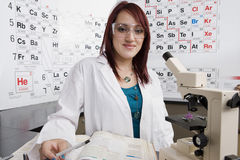 Female Student In Science Class Stock Photo
