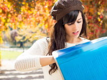 Female student searching Stock Photography