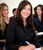 Female student smiling Stock Image