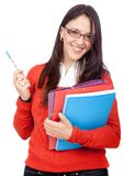 Female student smiling Stock Images
