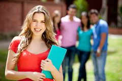 Female student smiling Stock Photos