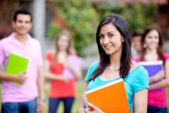 Female student smiling Royalty Free Stock Photography