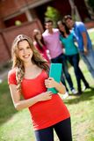 Female student smiling Royalty Free Stock Photos