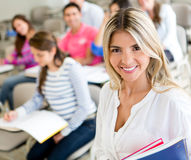 Female student smiling Royalty Free Stock Images