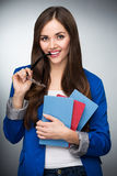 Female student smiling Stock Photo