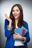 Female student smiling Royalty Free Stock Image