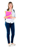 Female student standing Stock Images