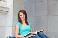 Female student studying Royalty Free Stock Images