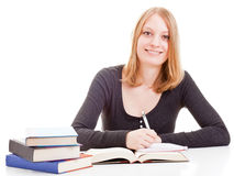 Female student studying Royalty Free Stock Photography