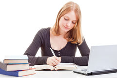 Female student studying Stock Photos