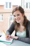 Female student studying Stock Photo