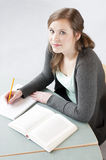 Female student studying Royalty Free Stock Photo
