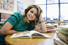 Female Student Studying In Library Royalty Free Stock Photo