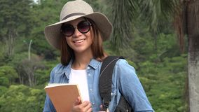 Female Student With Sunglasses stock video