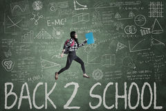 Female student and text of Back to School Royalty Free Stock Photos