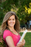 Female Student with Text book Stock Photos