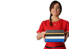 Female student with textbooks Stock Photography