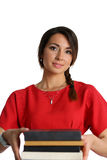 Female student with textbooks Stock Photos