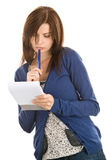 Female student thinking Stock Images