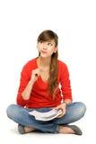 Female student thinking Royalty Free Stock Photos