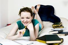 Female Student Thinking Stock Image