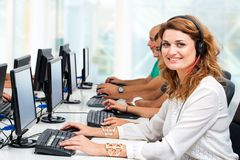 Female student in training course. Royalty Free Stock Images
