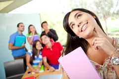 Female student at the university Royalty Free Stock Images