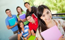 Female student at the university Royalty Free Stock Photo