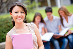 Female student at the university Stock Photography