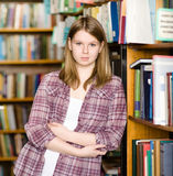 Female student  at the university library Stock Image