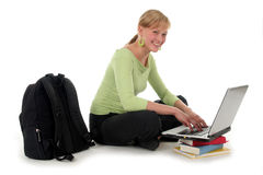 Female Student Using Laptop Royalty Free Stock Image
