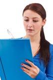 Female student writing Royalty Free Stock Photo