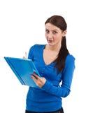 Female student writing Stock Images