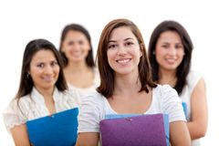 Female students Stock Photo