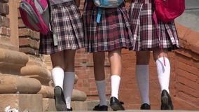 Female Students With Backpacks Royalty Free Stock Image