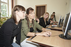 Female students in classroom Royalty Free Stock Photography