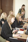 Female students in classroom Royalty Free Stock Photo