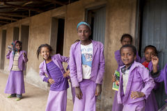 Female students in Ethiopia Stock Images