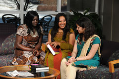Female Students in Ethnic Clothing Royalty Free Stock Photo