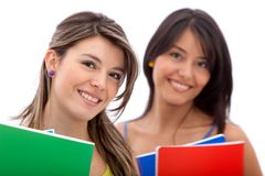 Female students isolated Stock Image
