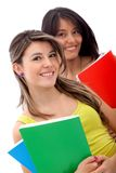Female students isolated Royalty Free Stock Photography