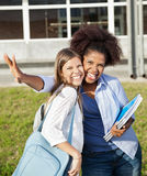 Female Students Making Facial Expressions On Royalty Free Stock Image