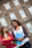 Female students outdoors Stock Image