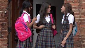 Female Students Socializing Stock Images