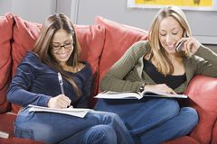 Female Students Studying Together Royalty Free Stock Photography